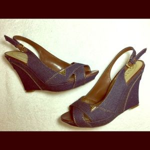 Guess denim wedges